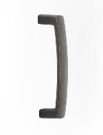 Emtek 86439 Rustic Modern Arched Bronze Door Pull 8 in. CtC